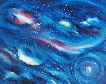 Galaxy Oil Painting