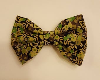Stunning,hair bows, children's, adult's,  fashion, clips, hair, flower, Liberty of London, olive, flower prints
