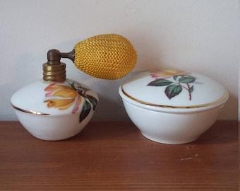 Trinket Pot and Perfume Atomiser