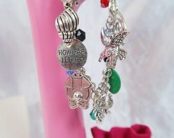 PRE ORDER 6 WKs How Far Charm Bead Bracelet