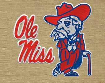 Ole Mississippi football FBS Embroidery Design