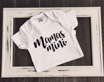 Mama's Mini in Black (Simple) - Baby Girl Onesie