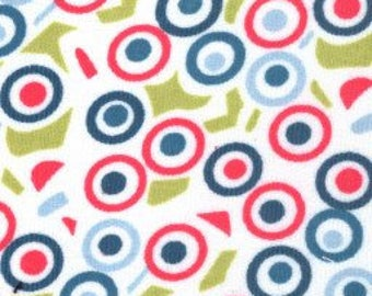 Corduroy Wild Dots Fabric by Fabric Finders  - Pink Blue Green
