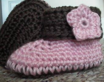 Crochet Cuffed Baby Booties, Baby Booties, Baby Shoes, Baby Gift, Crochet Baby Booties,Baby Shoes Girl, Baby Gift, Baby Shower Gift