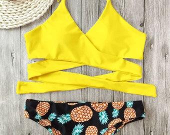 Pineapple Wrap Bikini
