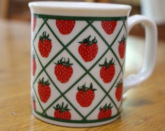 Vintage 60's/70's Strawberry Coffee Mug/Cup