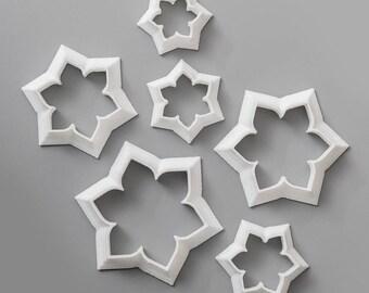 Cutter set (MEHENDI#1), Metalclay Cutter Set. Polymer Clay Cutter Tools.