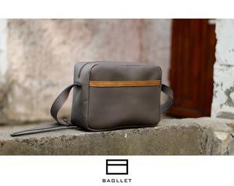 Leather Bag B028mini, Leather satchel purse, Women leather bag, Womens handbag, Leather messenger bag, Handmade bag, Leather crossbody