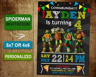 Ninja Turtle Birthday Invitation. Ninja Turtles Invitations. Ninja Turtle Invitation. Ninja Turtle Birthday Party. Ninja Turtles Party. DIY