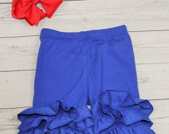 Royal Blue Ruffle Shorts