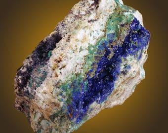 Azurite with rares, (Bariopharmacosiderite?, Chlorargyrite?, Chenevixite?), Centennial Eureka Mine, Utah  --- fine and rare minerals