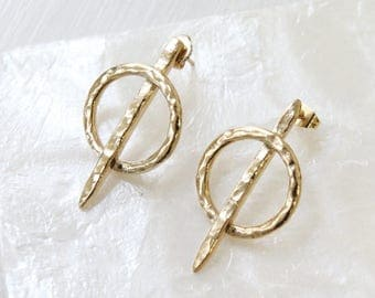 NEEDLE EARRINGS - gold plated