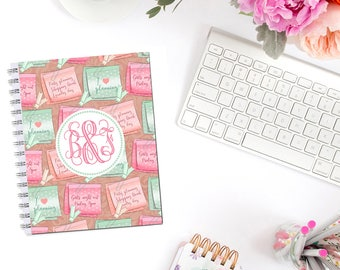 Post It Planner Cover Personalized Monogram Dashboard Erin Condren Recollections A5 Personal Pocket Personal