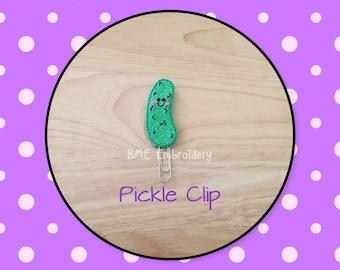 Planner Clip Pickle-Planner Clips-Planner Accesories-Planner Supplies- Paper Clip-Vinyl Pickle Feltie- Paper Clip-Journal Clip- Bookmark