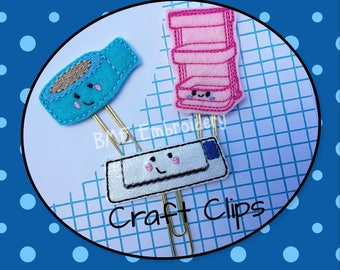 Craft Cart-Washi Tape-Cutting Machine Paper Clips-Planner Clips-Planner Accesory-Craft Clips-Journal Clip-Bookmark-Paper Clips for Planners