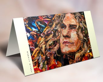 Robert Plant of Led Zeppelin Greeting card