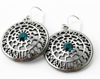 """Vintage Silver 925 Earrings """"The Runes"""""""