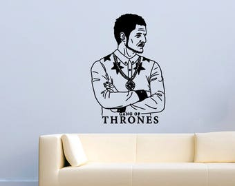 Game Of Thrones Oberyn Martell Vinyl Wall Decals Movie Film TV Red Viper of Dorne Stickers Vinyl Decor Murals MK3016