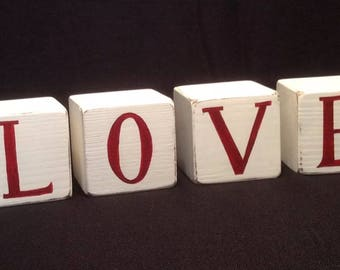 Wooden Word Blocks - Love