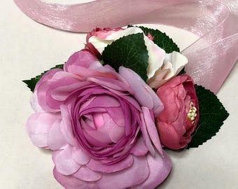 Wrist Corsage - Lavender Ranunculus