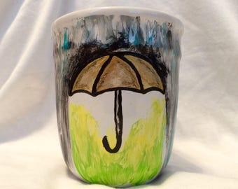 Rainy Day Umbrella Mug