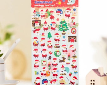 Cute DIY Colorful Christmas hot stamping kawaii Stickers Diary Planner Journal Note Diary Paper Scrapbooking- DESIGN 3