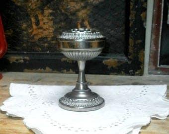 silver plated vase/rose holder/Seba, England/Vintage/metalware/silverware/British
