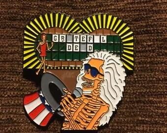 Wheel of fortune Grateful Dead hat pin