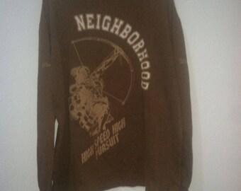 neighborhood crewneck brown diablo design