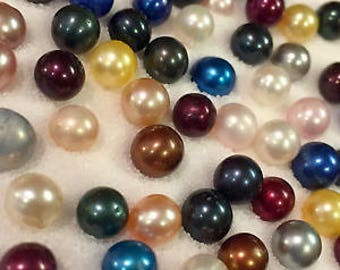 5 AKOYA OYSTERS with PEARLS 6-7mm Tons of Colors! Ships fast from United States!