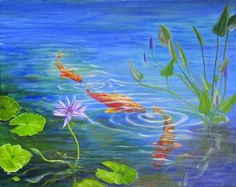 Lotus and Goldfish