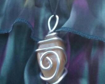 Large mookaite pendant