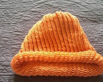 Coral color Adult size knit hat