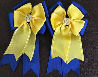 Michigan hair bow