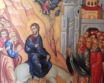Palm Sunday Orthodox Handpainted Icon