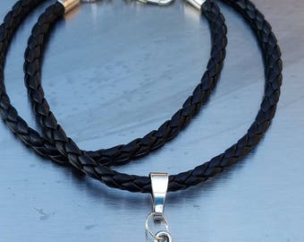 Cord Wrap Bullet Bracelet with Rose Swarovski Crystal