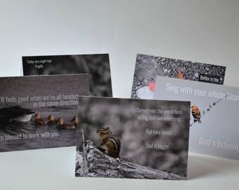 Individual Inspirational Nature/Animal Greeting Cards // Christian Cards // Inspirational Cards // Comfort Hurt Cards // Blank Cards