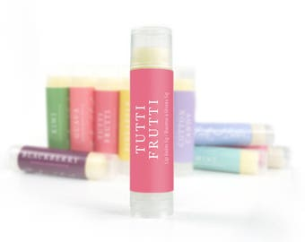 Beeswax Lip Balm | Tutti Frutti Lip Balm | Shea Butter Lip Balm, Handmade Lip Balm, All Natural Lip Balm