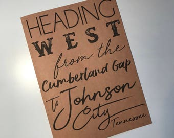 ClemmieLouCards -Wagon Wheel Song - Johnson City, Tennessee  - greeting card