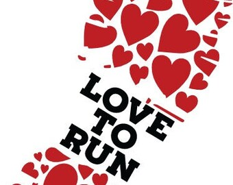 Love To Run Vinyl Decal ~ Marathon~Runner~Track~
