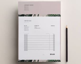Business Invoice For Excel + Google Sheets, Instant Download Invoice  Template, Freelance Invoice,  Invoice Spreadsheet