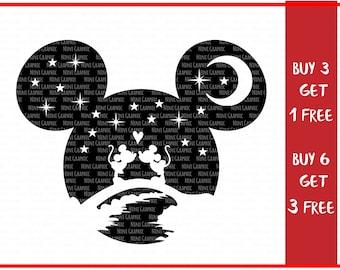 Mickey Svg, Disney Svg, SVG Design for Silhouette, minnie moise SVG, Svg Files for Cricut, Disney couple svg, disney png files, love svg