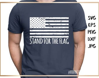 American flag distressed, Stand for the flag, Veteran's Day, grunge, Cutting Files,Military SVG DXF, Eps,png, Silhouette,army,navy,air force