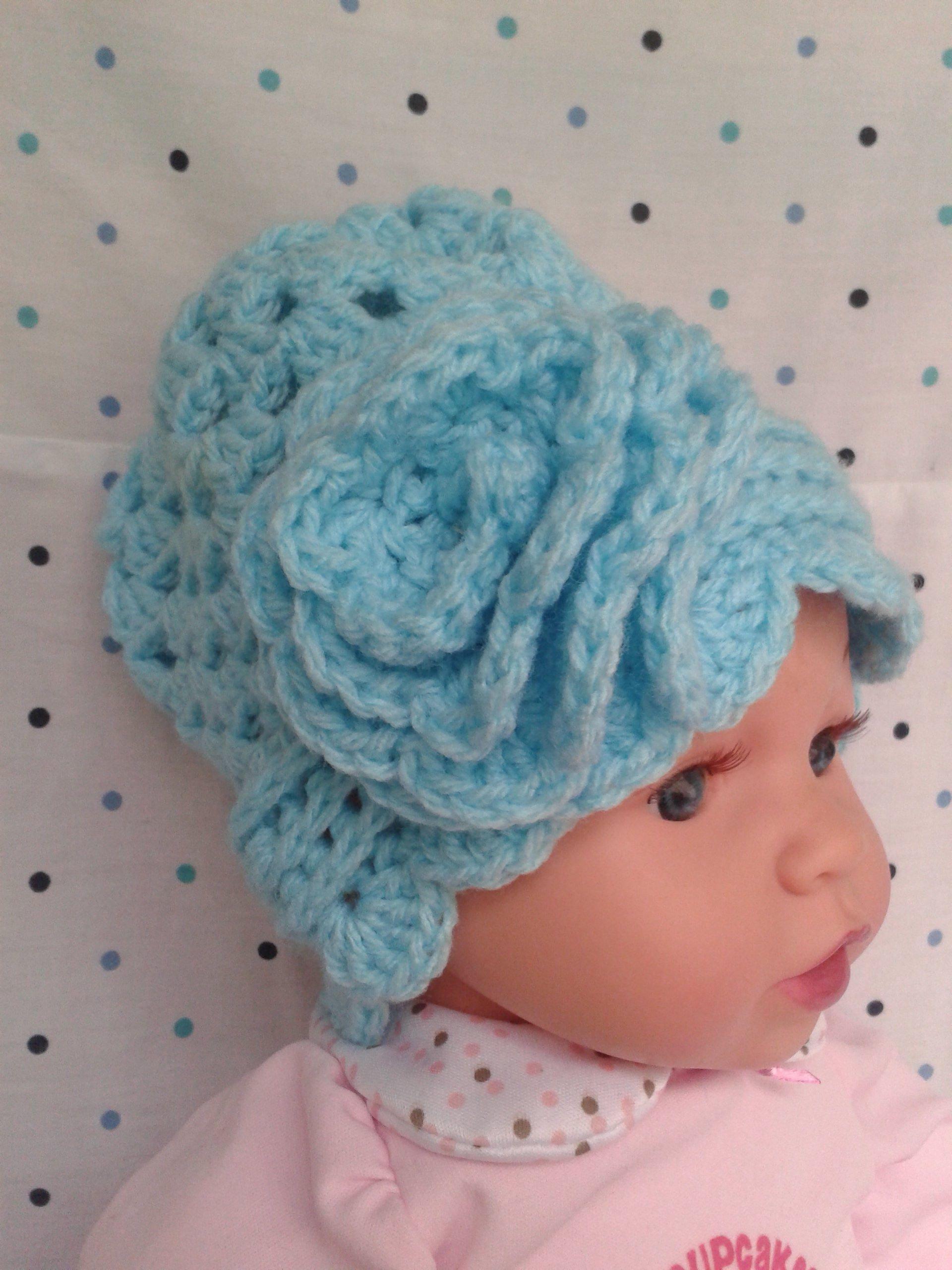 Handmade baby clothes newborn girl hats & headbands crochet baby