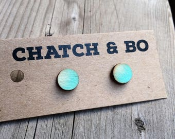 Wooden Ombre Studs