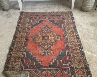 "5'7""x 3'6"" Vintage Hand Knotted Oriental Authentic Turkish Rug  FREE SHIPPING!!!"