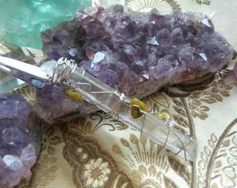 Quartz Crystal & Aventurine Roach Clip