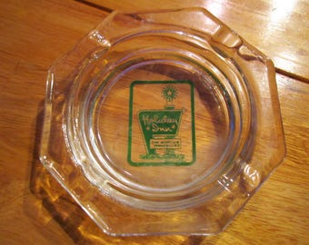 Vintage Holiday Inn glass ashtray