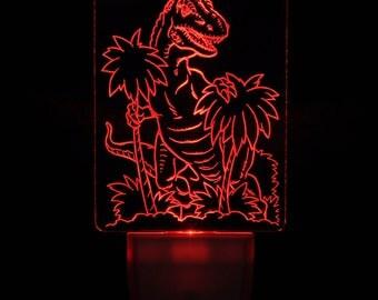 Dinosaur Night Light Etsy