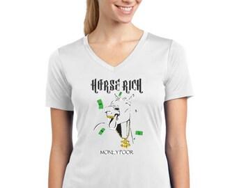 Horse rich- V-Neck/Tank/T-Shirt/Hoodie